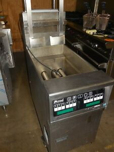 Used Pitco sg14 js 40lb Fryer Automatic Lift Natural Gas