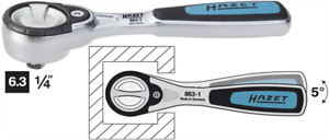New Hazet Ratchet Wrench 1 4 Inch Drive 72 Teeth Finetooth Reversable