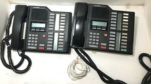 Set Of 2 Nortel Norstar Meridian M7310 Display System Phone Black