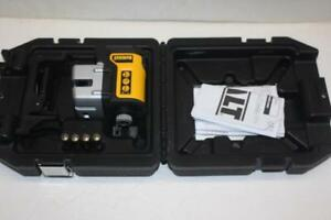 Dewalt Dw089k 90 degree Self leveling 3 Beam Line Laser Kit W Ceiling Mount