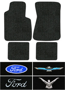 1958 1963 Ford Thunderbird Floor Mats 4pc Loop
