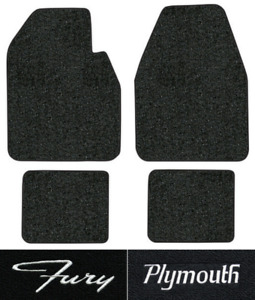 1962 1964 Plymouth Fury Floor Mats 4pc Tuxedo Fits Auto