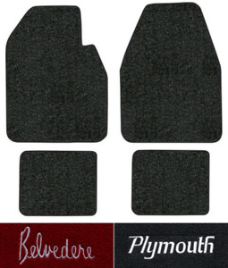 1962 1965 Plymouth Belvedere Floor Mats 4pc Loop Fits Auto