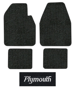 1962 1964 Plymouth Savoy Floor Mats 4pc Loop Fits Auto