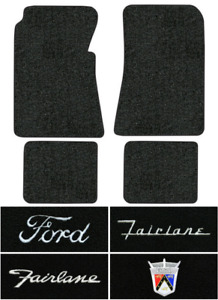 1955 1956 Ford Fairlane Floor Mats 4pc Loop