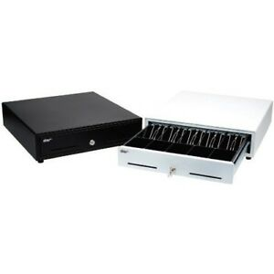 White Prnt Driven Cash Drawer