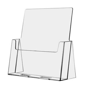 6 Pack Large Brochure Holder Flyer Stand Clear Display 8 5 x11 Azm Displays