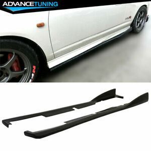 Fits 02 06 Acura Rsx Dc5 Cs Style Bottom Line Side Skirts Extensions Pu