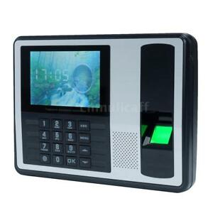 A7 Biometric Fingerprint Time Attendance Clock Recorder Employee Electronic I8w2