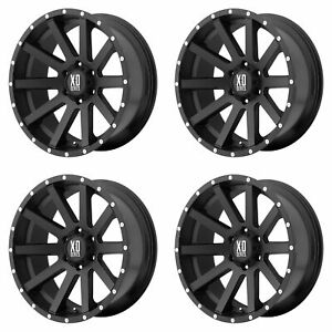 4x Xd Series 17x9 Xd818 Heist Wheels Satin Black 6x5 5 6x139 7 30mm 6 18