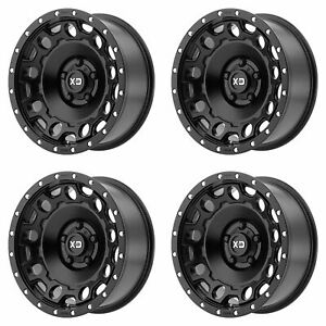 4x Xd Series 17x9 Xd129 Holeshot Wheels Satin Black 6x5 5 6x139 7 12mm 4 53