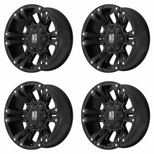 4x Xd Series 17x9 Xd822 Monster Ii Wheels Matte Black 6x4 5 6x114 3 30mm 6 18