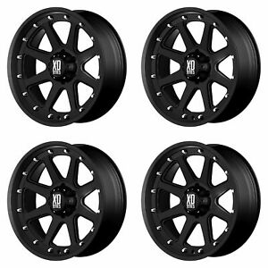 4x Xd Series 17x9 Xd798 Addict Wheels Matte Black 5x5 5x127 18mm Offset 5 71