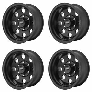 4x American Racing 17 Ar172 Baja Wheels Satin Black 17x9 8x6 5 Pcd 12mm