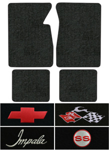 1961 1964 Chevy Impala Floor Mats 4pc Loop