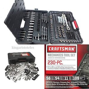 Craftsman 230 Pc Mechanics Tool Set Universal Sae Metric Ratchet Socket Kit Case