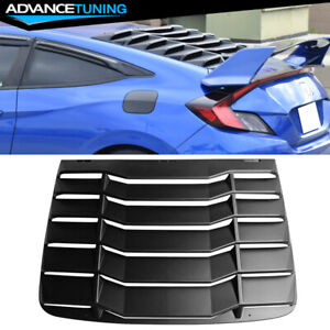 Fits 16 18 Honda Civic 2dr Coupe Rear Window Louvers