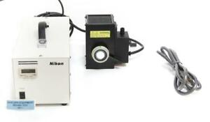 Nikon C shg Mercury Hg Microscope Illuminator Lamp Lamphouse Power Supply 4511