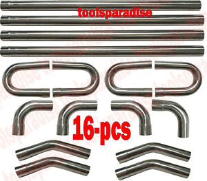 2 1 2 2 5 In Od Stainless Steel Exhaust Straight Pipe Elbow Mandrel Bent Kit