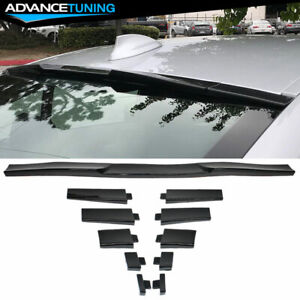 Universal Fitment Roof Spoiler Wing Adjustable Glossy Black