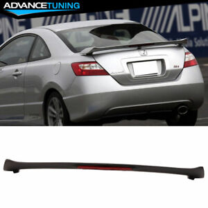 Fits 06 11 Honda Civic Si 2dr Coupe Led 3rd Brake Trunk Spoiler Unpainted Abs