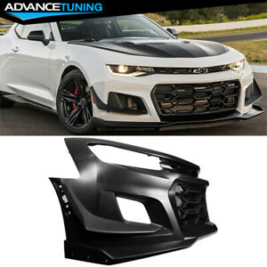 Fits 16 18 Chevy Camaro 1le Style Front Bumper Cover Unpainted Pp