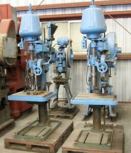 Heavy Duty Floor Drill Press Metalworking Woodworking 2hp Square Table Vintage