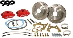 1968 72 Chevy Chevelle El Camino Red Wilwood D52 Rear Disc Brake Conversion Kit