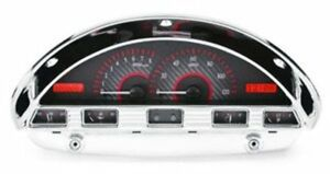 1956 Ford F100 Vhx System Carbon Fiber Style Face Red Display