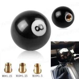8 Billiards Ball Car Shift Knob Gear Shifter Lever Cover For Manual Transmission