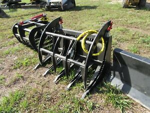 48 Mini Skid Steer Hd Grapple Bobcat Kubota Vermeer Toro Boxer