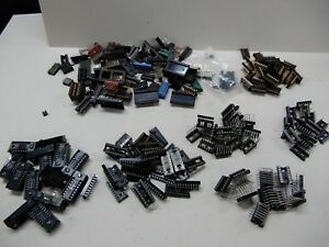 Huge Lot Ic Sockets Wire Wrasp Right Angle Locking 16 Pin