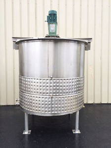 Process Equipment 1200 Gallon Stainless Steel Jacketed Processing Tank Foodgrad