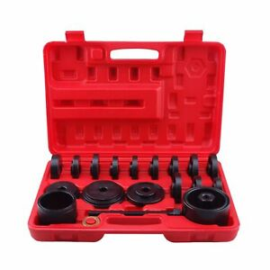 23pcs Wheel Bearing Press Kit Removal Adapter Puller Pulley Tool With case Front