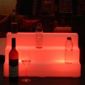 Home Shelf 2 Step Led Lighted Glowing Liquor Bottle Display Back Bar Rack 40