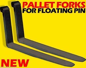 Cat 60mm Pin Wheel Loader Mount Replacement Forks For Floating Pin 2x4x48