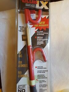 The Club 1100 Lx Series Steering Wheel Lock Red