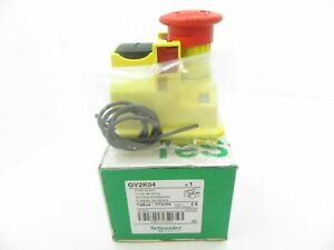 Gv2k04 Schneider Electric Emergency Stop Pushbutton Red new In Box