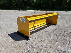 8 Snow Pusher Boxes With Pullback Bar Skid Steer Bobcat Local Pick Up