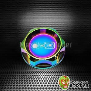 Neo Chrome Cnc Billet Aluminum Engine Valve Cover Oil Filler Cap For Acura Honda