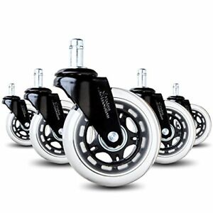Modern Innovations Office Chair Caster Wheels Set Of 5 Heavy Duty