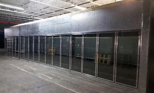 Walk In Freezer 17 Glass Door With Display Racks 2014 Model