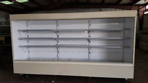 Hussmann Dairy Deli Produce Cooler Open Display Case Merchandiser 28ft