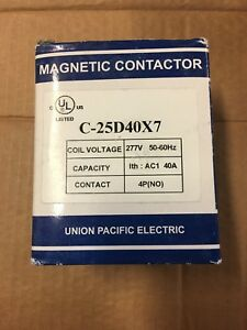 Union Pacific Electric 277v 40a 4p Magnetic Contactor