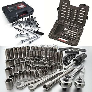 Craftsman 108 Pc Mechanics Tool Set Universal Sae Metric Ratchet Socket Kit Case