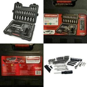 Craftsman 165 Pc Mechanics Tool Set Universal Sae Metric Ratchet Socket Kit Case
