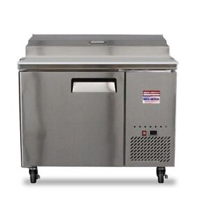 44 Pizza Prep Table Unit 4 Make Line Refrigerator Prep Cooler 2 Door 48 Tpp44