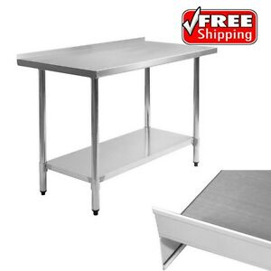 Butcher Food Prep Table W Poly Cutting Stainless Steel Top Commercial Equipment