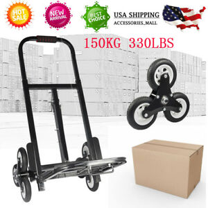 440lbs Warehouse Heavy Duty Stair Climbing Folding Cart With 6 Rolling Wheels