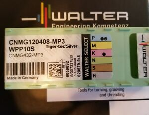 Walter Cnmg 432 120408 Mp3 Wpp10s Carbide Turning Inserts Brand New 10 Pack